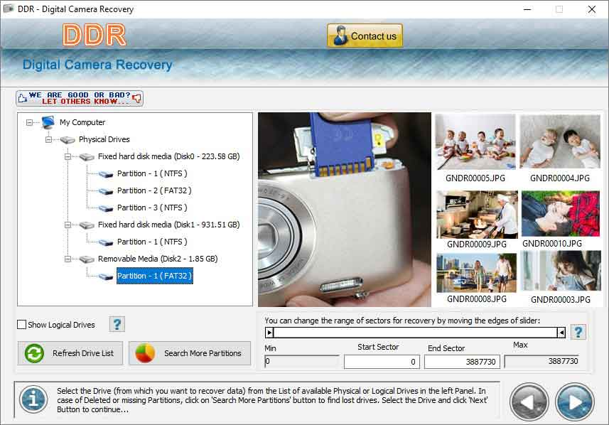 Camera Recovery screen shot