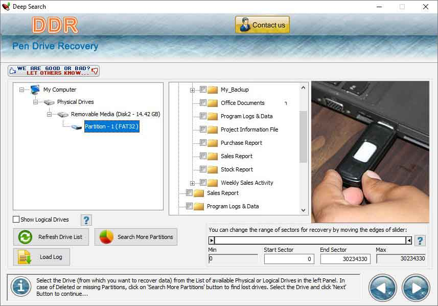 Salvage USB Drive Files screenshot